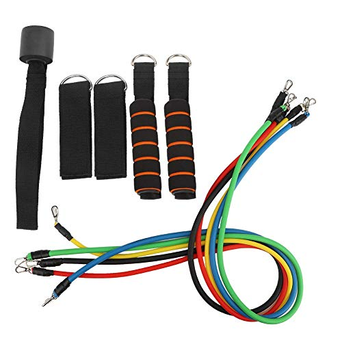 YLJYJ 11Pcs/Set Elastic Fitness Pulling Rope Gym Equipment Home Training Bands Muscle Trainer
