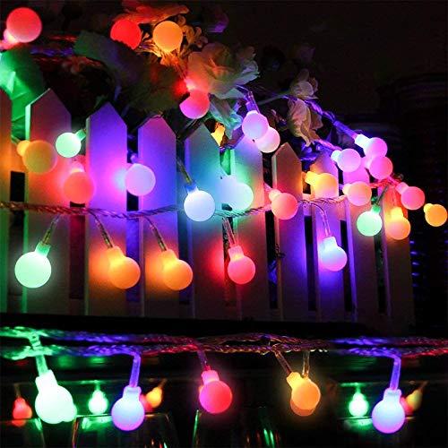 Fairy tale fairy lights 73.8Ft 150 LED ball light iluminación constante y 8 modos de iluminación decoración interior y exterior, jardín dormitorio navideño banquete de boda decoración navideña