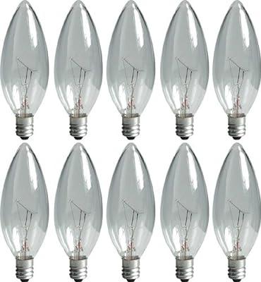 GE Lighting 48715 60-Watt 490-Lumen Blunt Tip Light Bulb with Candelabra Base, 24-Pack