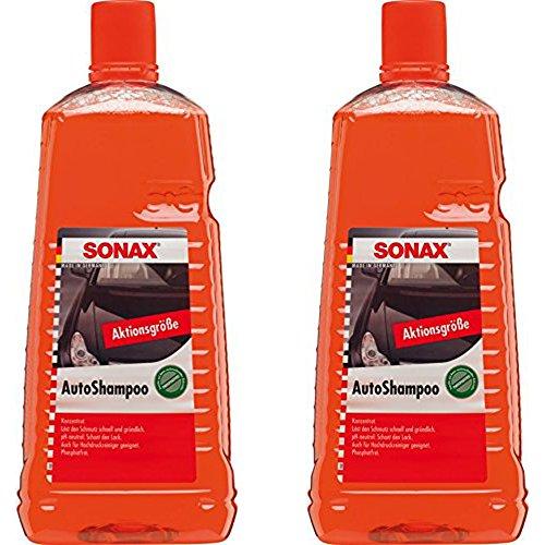 2x 2L Litros Sonax Auto Champú concentrado Auto brillo barniz Cuidado limpiador