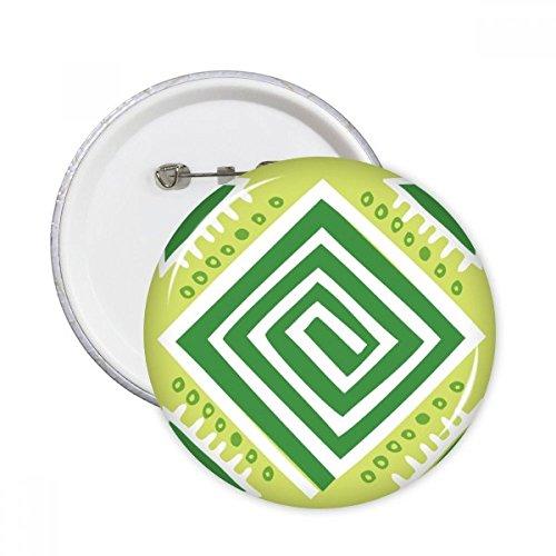 DIYthinker Los cuadrados verdes México Totems Civilización antigua Dibujo pernos redondos insignia del botón de ropa Decoración 5Pcs regalo XXL Multicolor