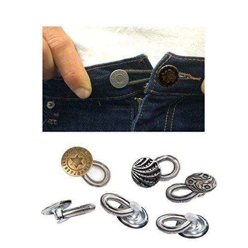 Dasongff Waistband Extenders Jeans einziehbarer Knopf Button Pant Extender Adds 37 Instantly Denim Waist Extender with Metal Button for Men or Womens Jeans
