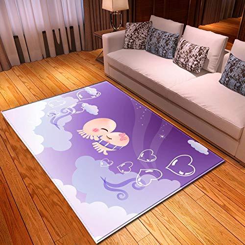 LGXINGLIyidian Casa Alfombra Patrón De Arte De Dibujos Animados De Anime Clásico Alfombra Suave Antideslizante De Decoración del Hogar De Impresión 3D T-500K 100X150Cm