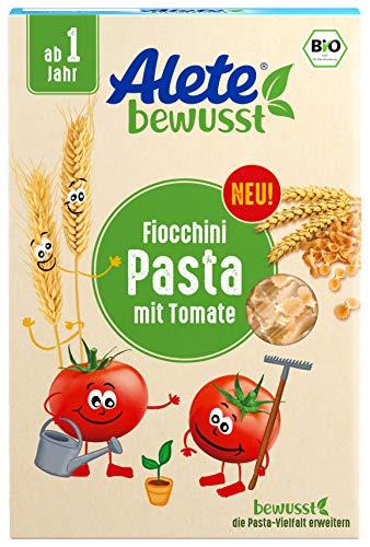 Alete bewusst Bio Nudeln Fiocchini, ab 1 Jahr, Pasta mit Tomate, 250 gramm