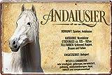 Blechschilder Andalusier Pferde Motiv & Spruch für