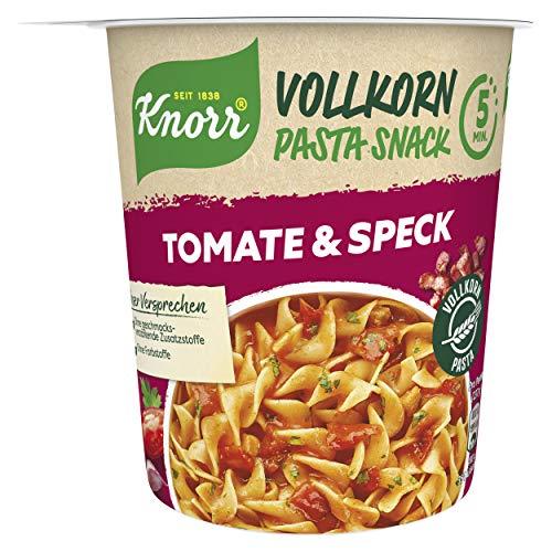 Knorr Vollkorn Pasta Snack Tomate & Speck leckeres Nudelgericht Fertig in nur 5 Minuten, 1 x 57 g