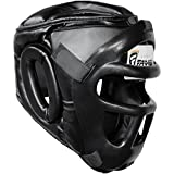 Farabi Sports Boxing Head Guard, Helmet Head Protector Gear Synthetic Leather (Large)