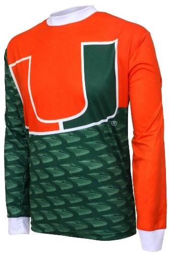 Adrenaline Promotions NCAA Miami Hurricanes Mountain Bike Cycling Jersey, Team, XX-Large