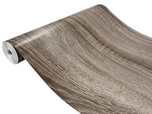 Askol DecoMeister Klebefolien in Holz-Optik Holzfolien Deko-Folien Holzdekor Selbstklebefolie Möbelfolie Selbstklebend Holz-Maserung 90x100 cm Sonoma Eiche Trüffel