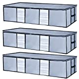 Underbed Storage Bags Large Size[Pack of 3] Big Capacity Storage Container...