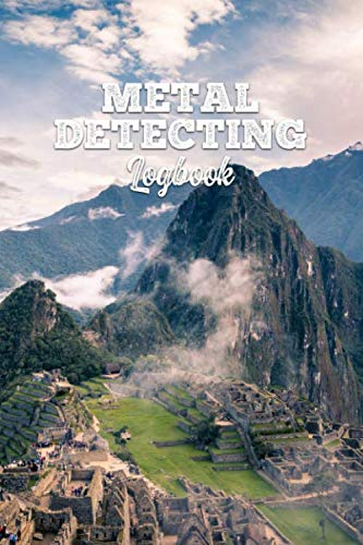 """Metal Detecting Log Book Journal Notebook Diary Planner - Mountain Landscape: Treasure Hunting Record with 120 Pages In 6"""" x 9"""" Inch - Gift Idea for Metal Detectorists"""