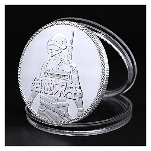 DEALBUHK PUBG Lucky Coin PlayerunkNown's BattleGrounds Juego COMPETITITIVE Moneda de Oro Moneda de Plata Moneda Conmemorativa (Color : C)