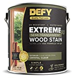 DEFY Extreme 40 Semi-Transparent Wood Deck Stain - Ultra Low VOC Formula, 1 Gallon - Crystal Clear