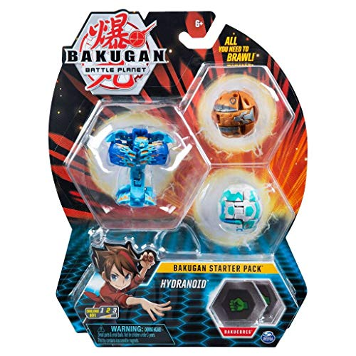 Bakugan Starter Pack 3-Pack, Hydranoid, Collectible Action Figures, for Ages 6 and up