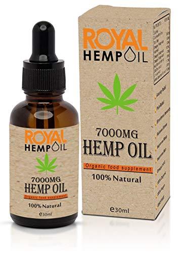 Biologische Royal Hemp olie 7000MG 30ml   Hennepzaad  Omega 3-6-9   Organisch en Natuurlijk   GGO-vrij  100% veganistisch   Pepermuntsmaak