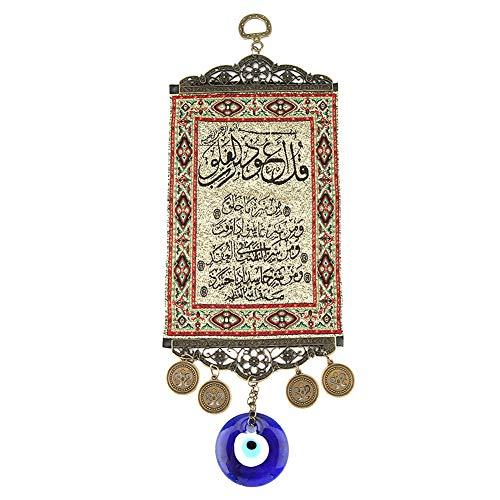 ViaGasaFamido Ojo Malvado Azul, Amuleto de bendición del Corán Turco, Alfombra de Pared, Ornamento Colgante, Protector de decoración del hogar, Regalo de inauguración