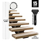"""LINCONSON Clear Slip Resistant Stairs Tread Grip Tape 4"""" x 32"""""""