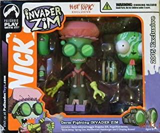 Palisades Toys Invader Zim Germ Fighting Invader Zim Hot Topic Exclusive Figure Set