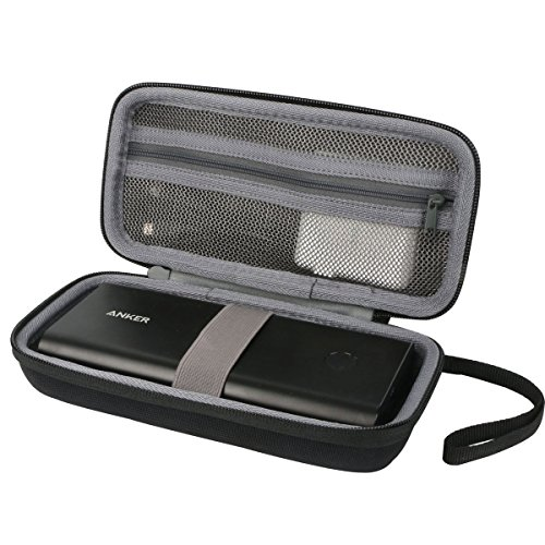 Hart Reise Schutz Hülle Etui Tasche für Anker PowerCore+ 26800mAh Premium Aluminium Powerbank Externer Akku von co2CREA (Black-New)