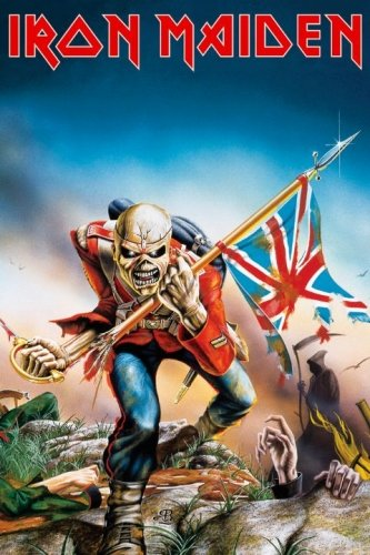 Iron Maiden - Music Poster (Trooper) (Size: 24 inches x 36 inches)
