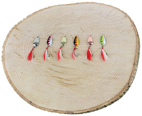 Storfisk fishing & more Forellenköder Mini Blinker 2,5g Set Einzelhaken mit Fliege