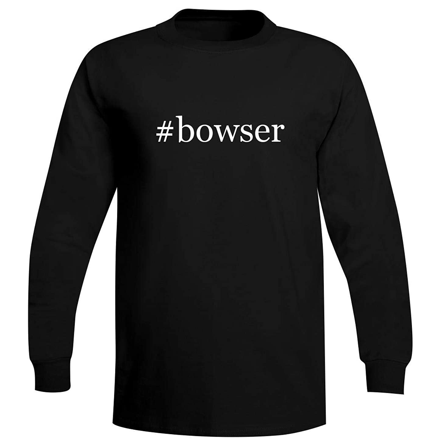 The Town Butler #Bowser - A Soft & Comfortable Hashtag Men's Long Sleeve T-Shirt
