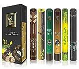 Aroma Serie Superior Palos de fragancias - Pack de 6 - Serene y Fascinante Palillos de Incienso 120 - Feel Las fragancias Naturales con Palos de aceites aromáticos - Bastones Largos duraderos