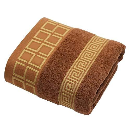 DOROCH 3 unids/Lote 100% de Toalla de algodón con 2 toallitas de Cara + 1 baño de Toallas de baño for familias baños de huéspedes Gimnasio (Color : Chocolate)