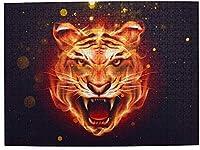 大人の燃えるような虎のためのWAWEHOYジグソーパズル500ピース