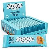 Moove - Barrita de proteínas vegana, sabor a caramelo salado