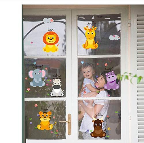miaoqiushiyi Sticker Stickers Muraux Safari pour La Chambre des Enfants Home Decor Nursery Children Baby Vinyl House