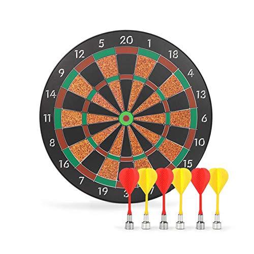 LIUXR Magnetisches Dartscheiben-Set, Dartspiel, hängendes magnetisches Dartziel Kinder-Sicherheitspfeilspiel für Erwachsene mit 6 Pfeilen, ideal für drinnen und draußen,Black