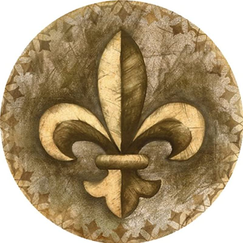 Thirstystone TS2141 Absorbent Drink Coasters With Holder Fleur De Lis