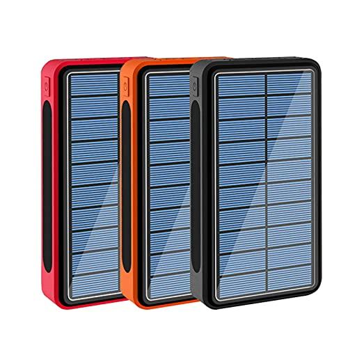 Batería Externa Inalámbrico 50000mAh, 6 Salidas [Carga Inalámbrica PD 15W] Cargador Portátil Solar, Paquete Batería Externa con 4 Entradas Compatible con iPhone Samsung Etc,3 pcs