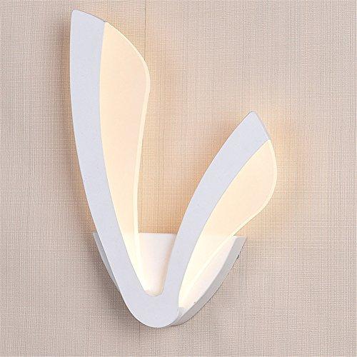 ATD® Warm White Creative Minimaliste acrylique moderne ailes doubles Forme Wall Light Pour la maison, Bar, Café, Intérieur et extérieur décoration In (blanc chaud)