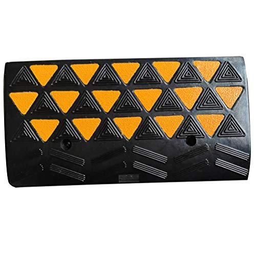 BESEA Rubber Curb Ramp Heavy Duty 44000lbs Professional Grade Loading Ramps Car Slope Ramp Threshold Ramp for Forklifts Trucks,Buses,Motorcycle (24'L × 12'W × 4'H Curb Ramp, Single Ramp).