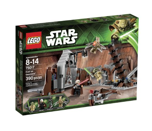 Lego Year 2013 Star Wars Series Battle Scene Set #75017 - DUEL ON GEONOSIS with Lair Featuring Falling Lamps, Tower Handle and Hidden Compartment Plus Speeder and Count Dooku, Yoda, Poggle the Lesser and Dooku's Pilot Droid Minifigures (Total Pieces: by LEGO