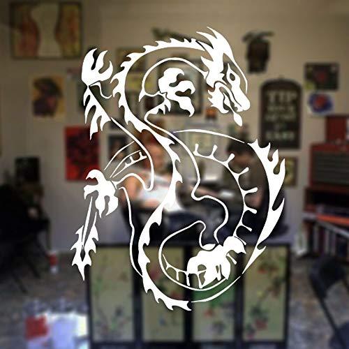 jtxqe Oriental Asian Dragon Room Fenster Tattoo Shop Abnehmbare Tür Aufkleber/Anime Wandaufkleber Personalisierter Name Wandaufkleber Wandaufkleber Kinderzimmer Mädchen 57X75Cm