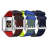 YaYuu Fitbit Ionic Cinturino, Ricambio Sportivo Cinturino Bande Morbido Silicone Cinturino da Polso Fascia per Fitbit Ionic Smart Watch (A, 3 Pezzi)