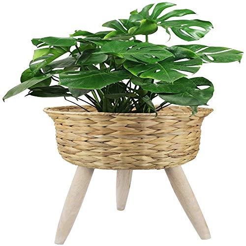 Moderne mand Plant Pot Handgemaakte Plant Rieten Met Stand Binnen Natuurlijke Unieke Decoratieve Plant Display Stand