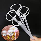 Big Balloon Stick with Cups , 15 Pcs Long Clear Balloon Holder for LED Bobo Balloons 27' Long Balloon Stick