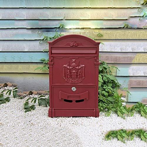 YONGYONGCHONG Brievenbus Brievenbus Villa in de buitenlucht waterdichte muur creatieve letterbox postbox tuin retro mailbox veiligheidspostvak