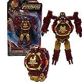 Transformation Kids Robot Watch Toy 2 en 1 Transform Robot Watch Toys para niños y niñas Reloj defor...