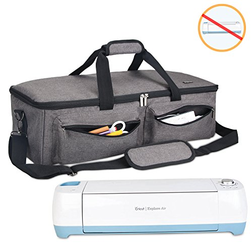 Tote Bag Compatible with Cricut Explore Air 2 and Silhouette Cameo 3,No Accessories Included Grey with Double Layer ARSH Carrying Bag Compatible with Cricut Explore Air and Maker