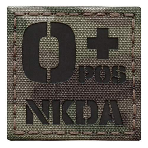 Multicam Infrared IR OPOS NKDA O+ Blood Type 2x2 Tactical Morale Hook&Loop Patch