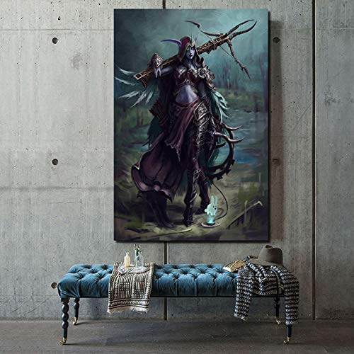 KWzEQ Nordic Poster Spiel Charakter Tapete Leinwand Malerei Wohnzimmer Dekoration Malerei Moderne Home Art Ölgemälde,Rahmenlose Malerei,80x120cm