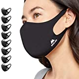 Mojo Reusable, Washable, Breathable Black Medium Face Mask - Pack of 8 (Medium)