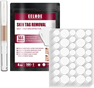 Skin Tag Remover Patches Wart Remover Kit with 144 PCS Skin Tag Removal Patches