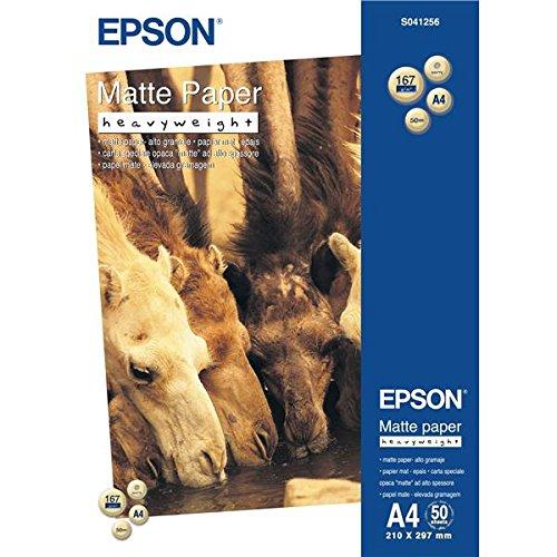 Epson Papel mate pesado DIN A4, 167 G/M², 50 hojas, DIN A4, 167 g/m², 50 hojas, 210 mm, 297 mm, A4, 50 hojas, mate, color...