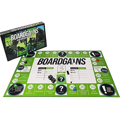 Boardgains. Fitness Board Game. Designed by Personal Trainer. Game for...